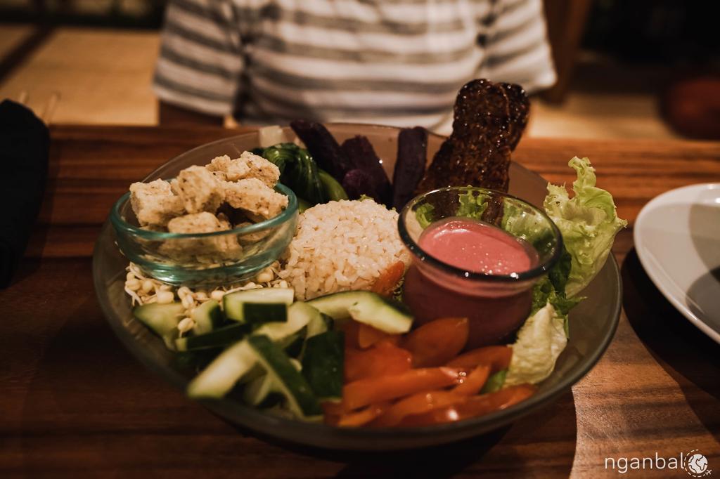 nhà hàng chay ngon ở Ubud